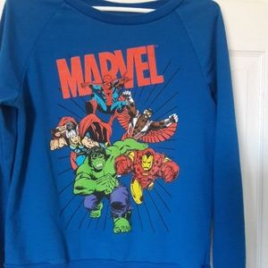 Marvel Comics superhero long sleeve  Large